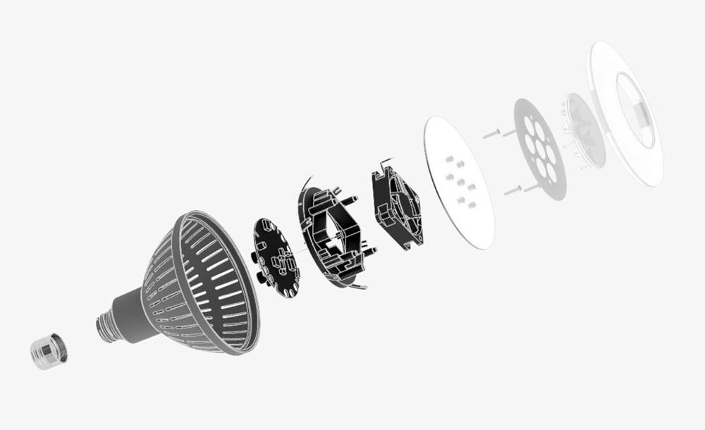 Bill of materials image of simprcele GU10 light sou